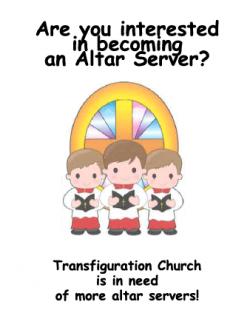 Become an Altar Server